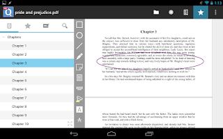 Screenshot of qPDF Notes Pro PDF Reader