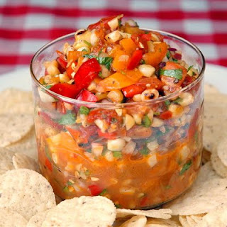 Roasted Tomato and Grilled Corn Salsa