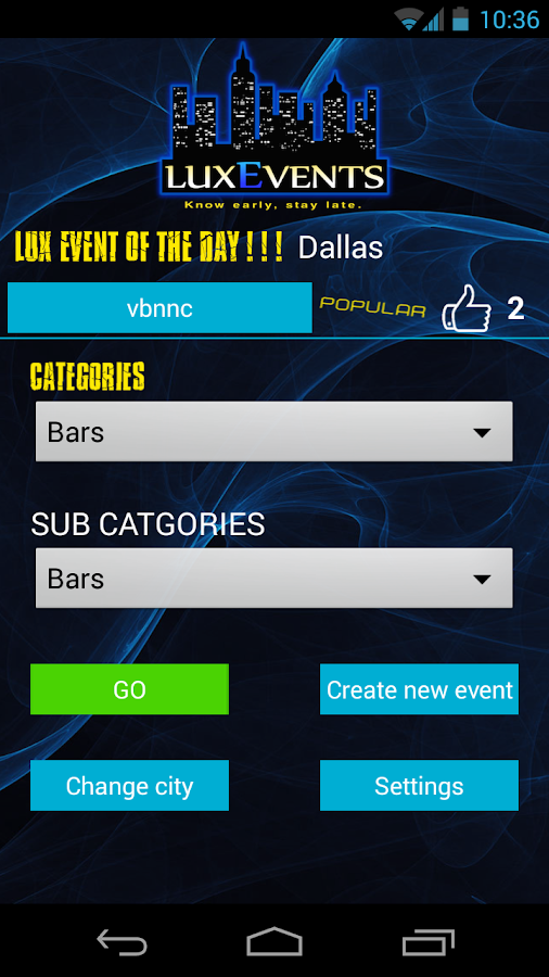 LuxEvents- screenshot