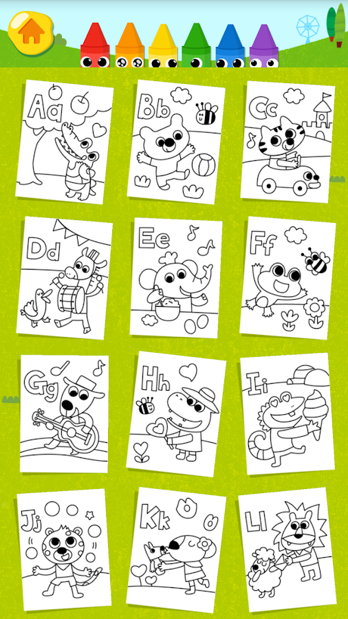 kids coloring fun screenshot
