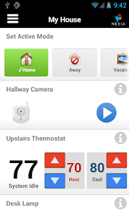 Nexia Home Intelligence Mobile - screenshot thumbnail