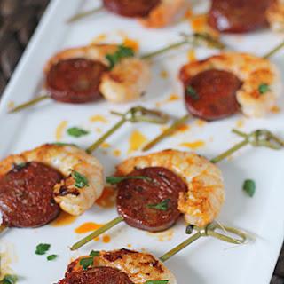 Shrimp and Spanish Chorizo Bites.