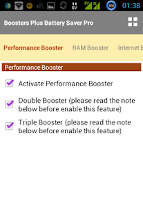 BOOSTERS PLUS BATTERYSAVER PRO- screenshot thumbnail
