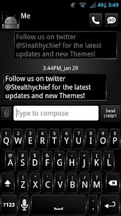 GO SMS Dark Style Theme - screenshot thumbnail