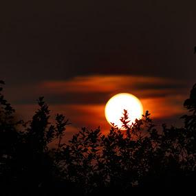 Sun going down by Steve Trigger - Landscapes Sunsets & Sunrises