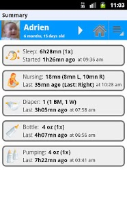Baby Connect (activity logger) - screenshot thumbnail