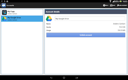 FolderSync Lite Screenshot 2