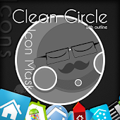 Clean Circle Icons w/outline