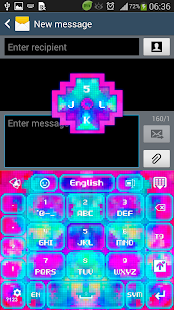 GO Keyboard Color Pixels Theme - screenshot thumbnail
