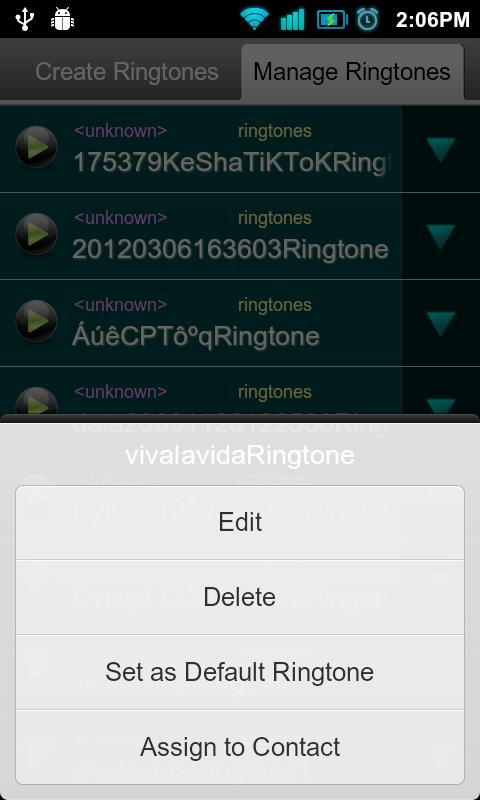 Make My Ringtones - screenshot