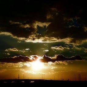 I am thinking of u by Nat Bolfan-Stosic - Landscapes Sunsets & Sunrises ( thinking of you, bright, sunset, town, bridge )
