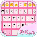 Simple Pink Emoji Keyboard icon