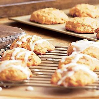 Iced Pumpkin-Raisin Cookies