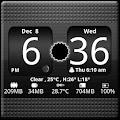 FlipClock BlackOut Widget 4x2 4.5.0 icon