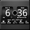 FlipClock BlackOut Widget 4×2 logo
