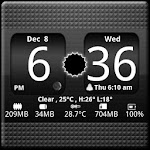 FlipClock BlackOut Widget 4x2 4.5.0 Apk