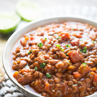 20 Minute Easy Lentil Chili.