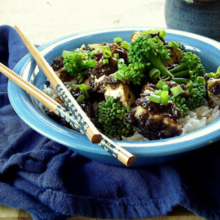 Crispy Tofu with Chinese Black Bean Sauce.