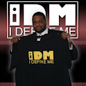 "IDM WEAR  ""I DEFINE ME!"" logo"
