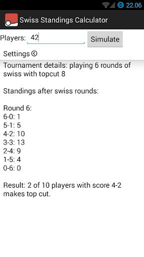 Swiss Standings Calculator