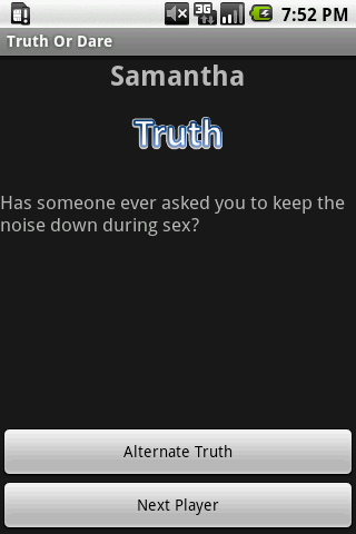 Sexy Truth Or Dare 18+- screenshot
