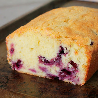 Blueberry Sour Cream Pound Cake