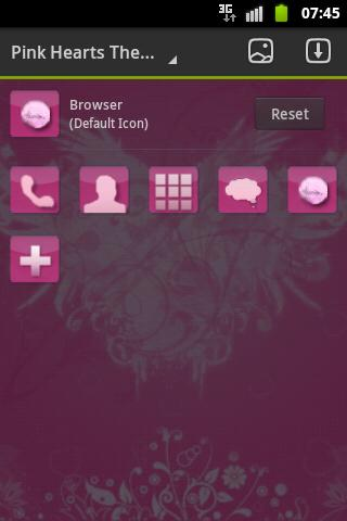 GO Launcher Theme Pink Hearts - screenshot