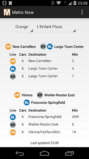 Metro Now for DC Metro