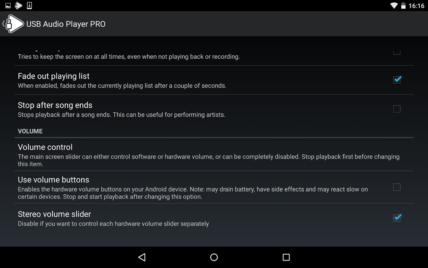USB Audio Player PRO- screenshot