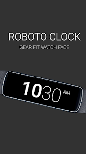 Roboto Clock for Gear Fit