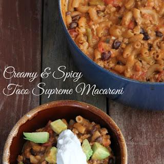 Creamy and Spicy Taco Supreme Macaroni