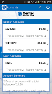 Center National Bank Mobile - screenshot thumbnail