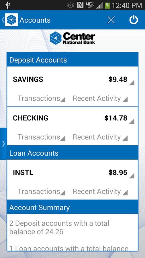 Center National Bank Mobile- screenshot