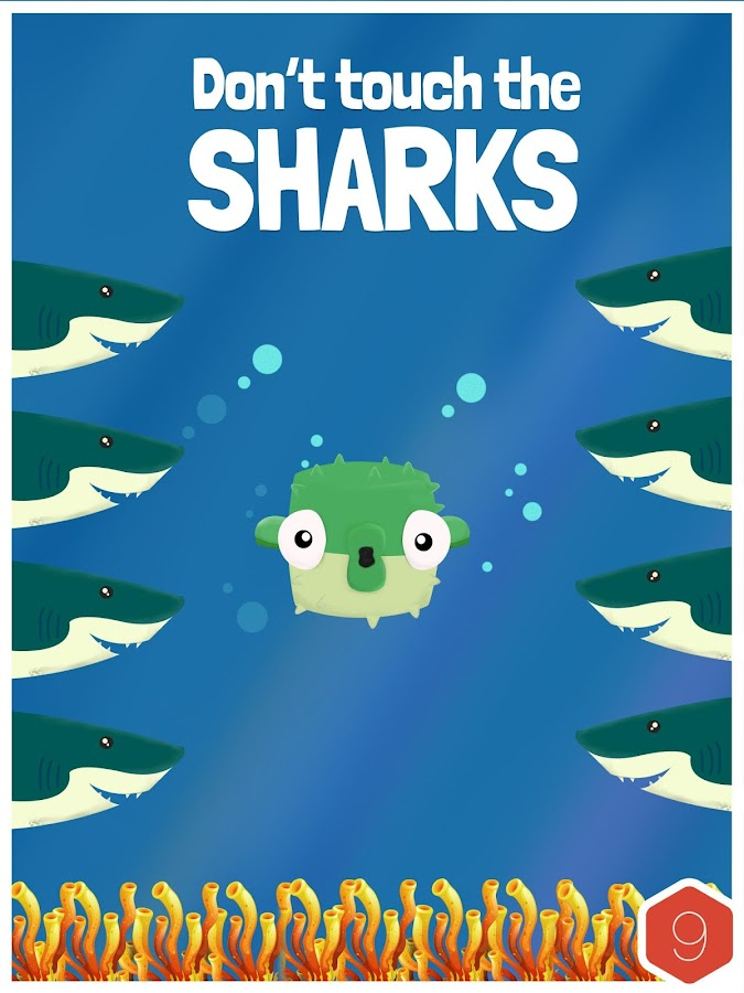 Dodge The Sharks- screenshot