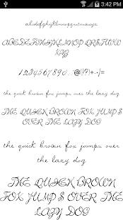 Fonts for FlipFont Script Font 2