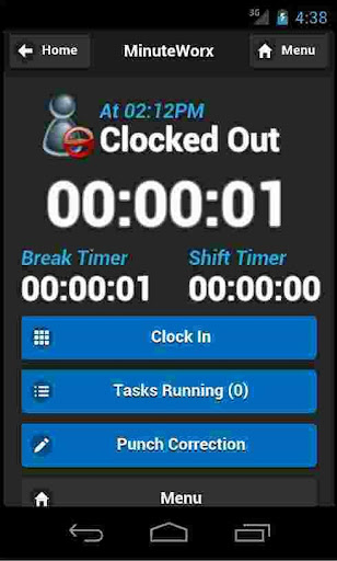 MinuteWorx Punch Clock Client