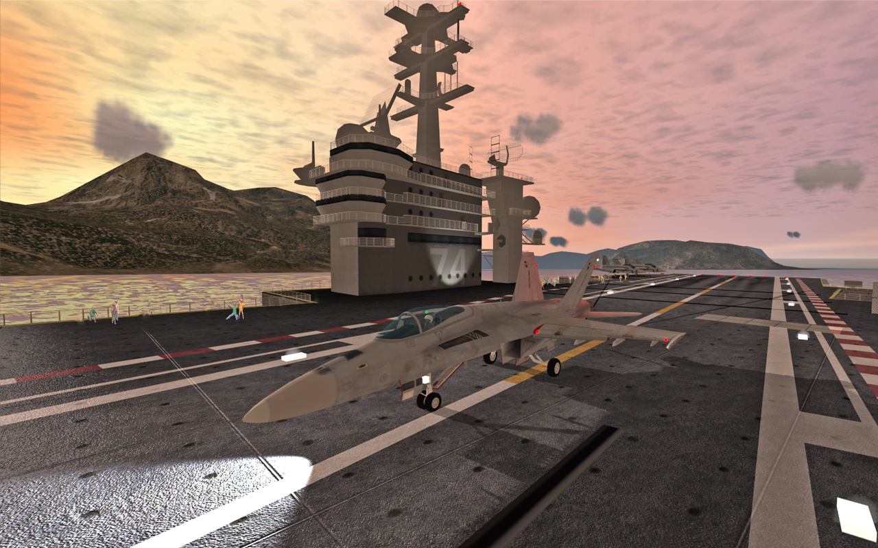 F18 Carrier Landing II Pro - screenshot