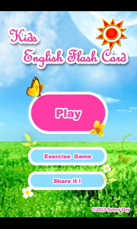 Kids English Flash Card - screenshot