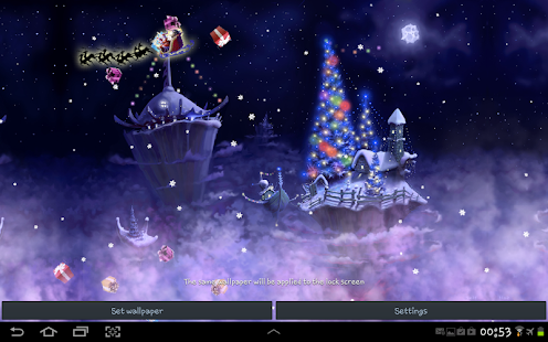 Weihnachtsbilder 3d.Christmas Snow Fantasy Live Wallpaper Apps On Google Play
