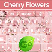 GO Keyboard Cherry Flowers