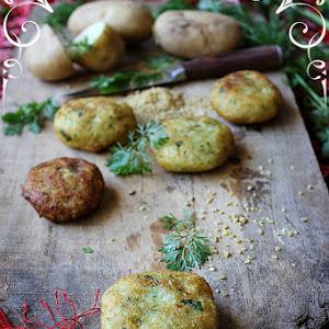 Potato and Bulgur Wheat Fritters (Kibe)