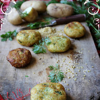 Potato and Bulgur Wheat Fritters (Kibe).