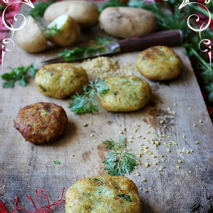 Potato and Bulgur Wheat Fritters (Kibe)