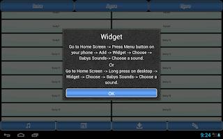 Screenshot of Babys Sounds