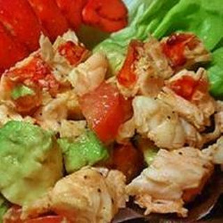 Avocado and Lobster Salad.