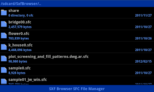 SXF Browser for Android - screenshot thumbnail