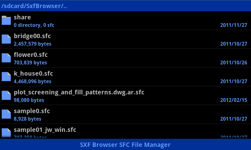 SXF Browser for Android - screenshot