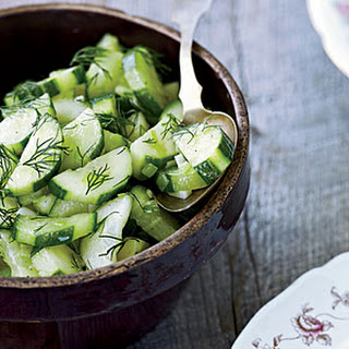 Braised Cucumbers with Dill.