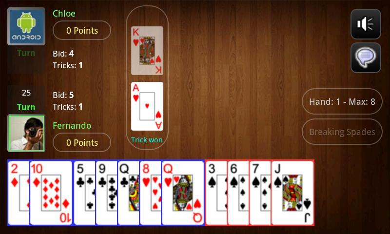Live Spades Pro - screenshot