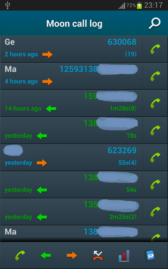 Call Log - screenshot